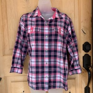 Alfred Dunner Button Down Top